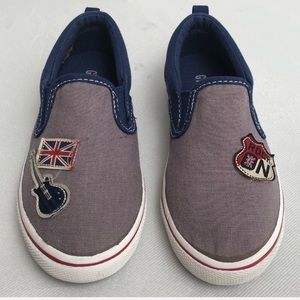 Gymboree slip on sneakers British Rock Collection